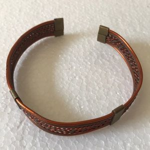 Antique copper brass cuff